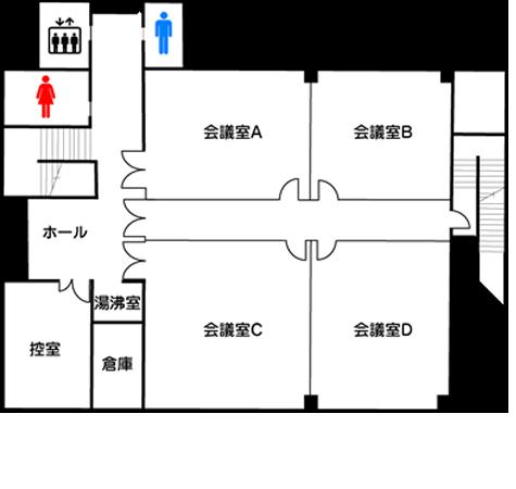 姫路市 高岡市民センター 2階フロアマップ